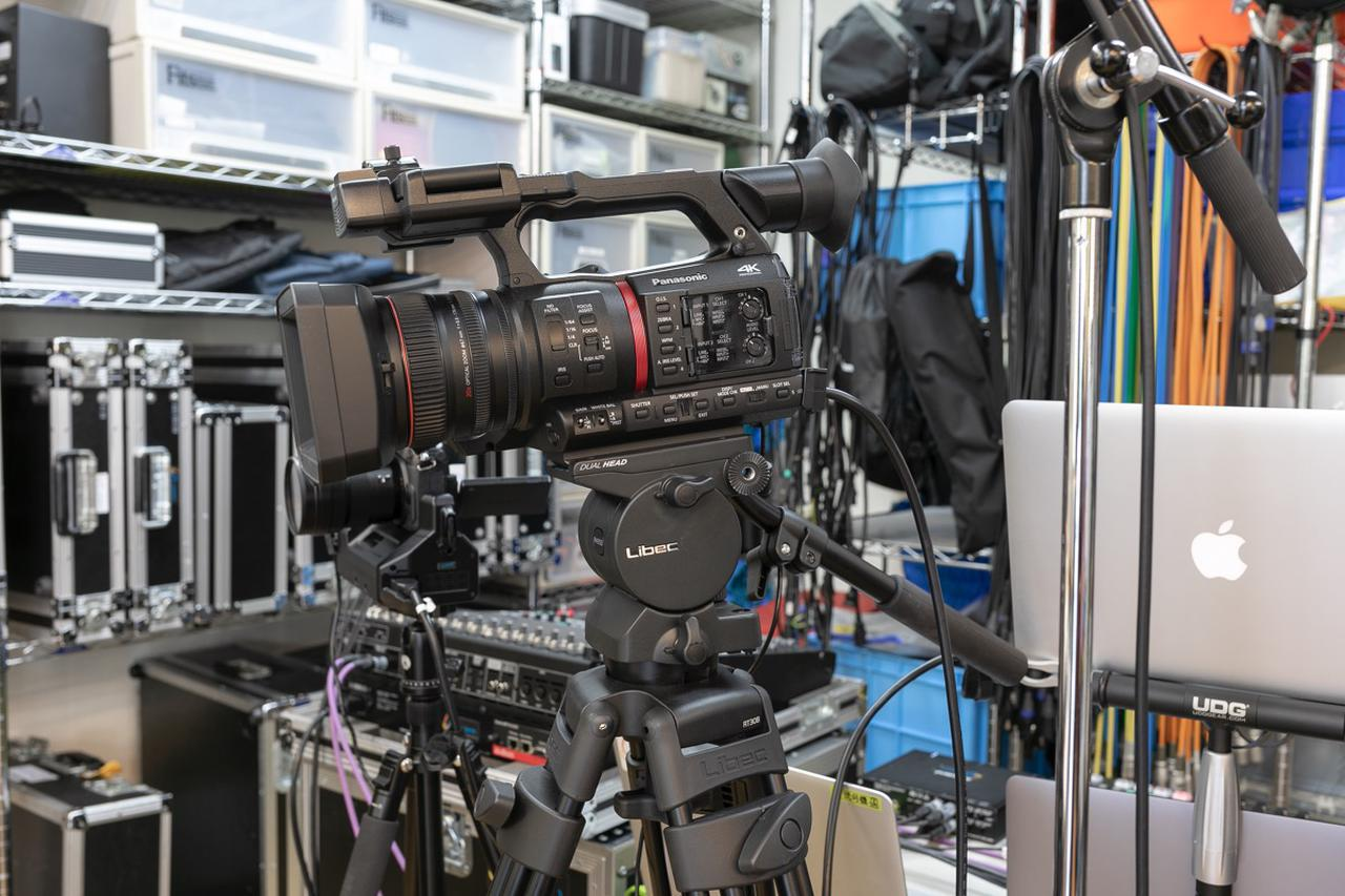 画像: メイン・カメラのパナソニックAG-CX350