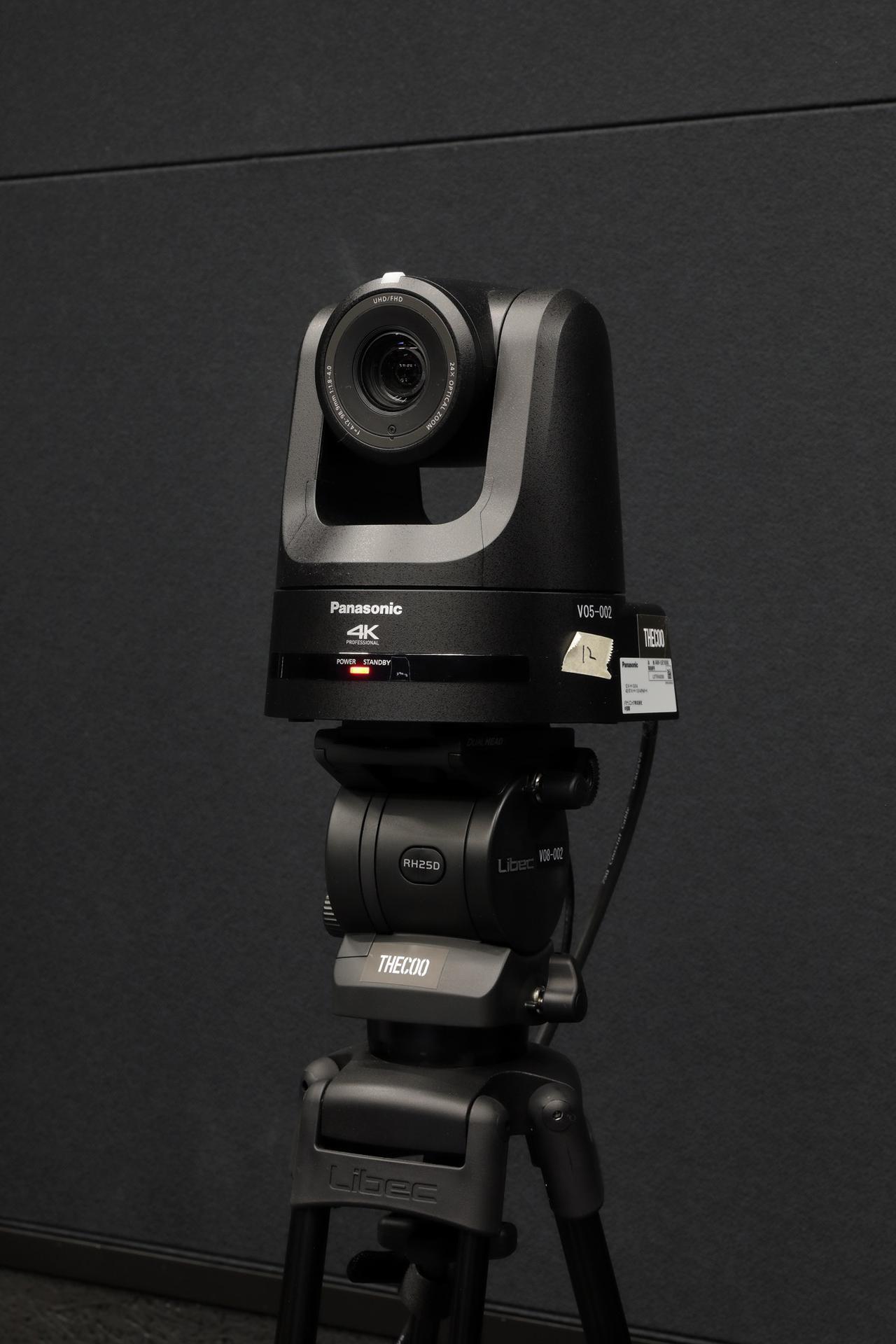 画像: 5台常設された4Kカメラ、パナソニック AW-UE100K