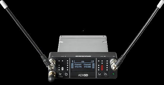 画像1: プロサウンド独占配信!!放送や映画のロケ、スポーツ中継などの使用に最適化した SHUREのハイエンド・ポータブルワイヤレス受信機ADX5D登場