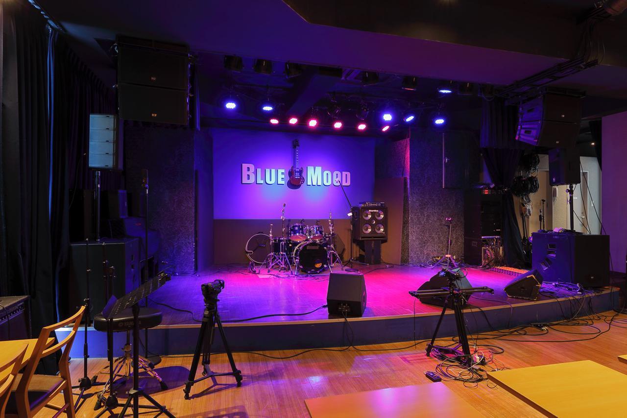 画像: 東京・築地/汐留のライブ・ハウス&レストラン『BLUE MOOD』。収容人数約120名、本格的なイタリア料理も楽しめるライブ・スペース