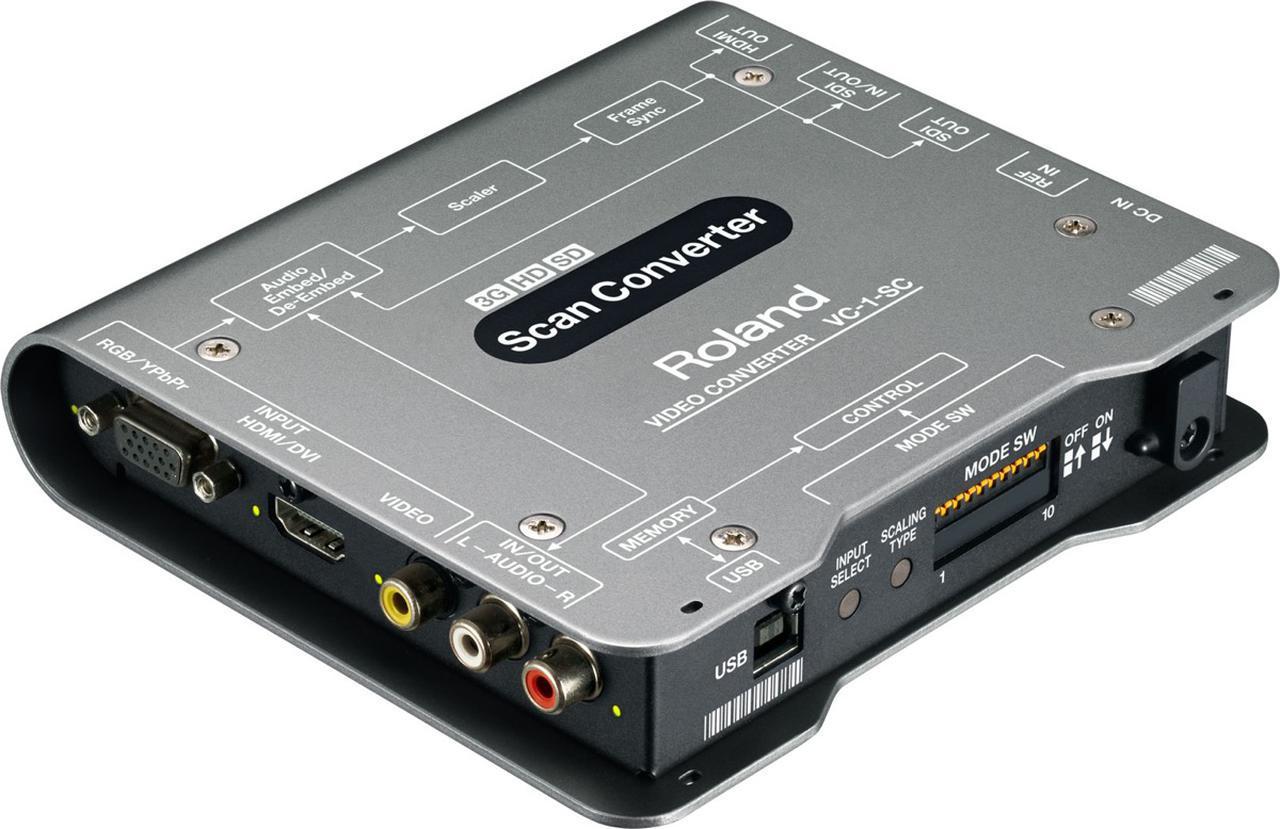 画像: 映像を扱う現場で定番ツールとなっているVC-1-SC。コンパクトなアップ/ダウン/クロス/スキャン・コンバーターで、SDI/HDMI/RGB/コンポーネント/コンポジットといった信号を任意のビデオ・フォーマットに変換してSDI/HDMIで出力できる。多機能なスケーラーも搭載、フレームレートやアスペクト変換も可能