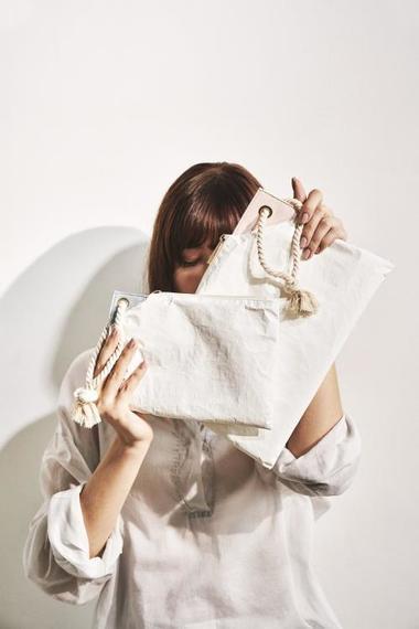 画像: 高密度ポリエチレン不織布「タイベック」で作ったポーチのセット