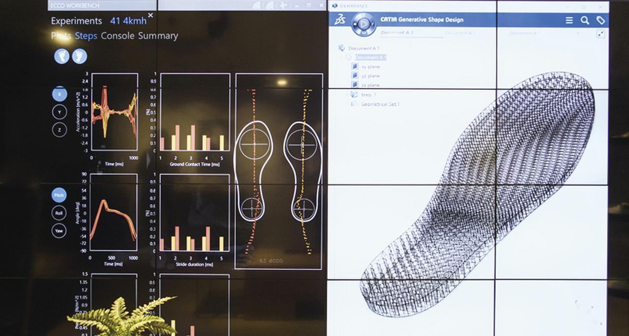 """画像1: 売り場で解析、3Dプリンターがミッドソールを作る あなただけのための""""究極の1足"""""""