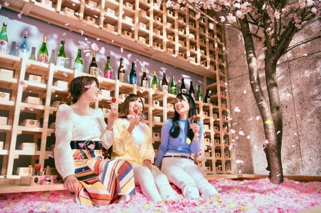 画像1: いよいよオープン!120万枚の桜の花びらに埋もれて「体験型インドア花見」と佐賀の名産が楽しめる「SAKURA CHILL BAR by 佐賀」