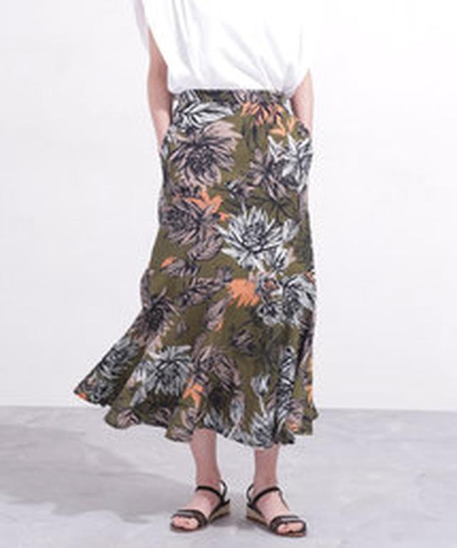 画像2: リゾートプリント&ちょいデザインスカート