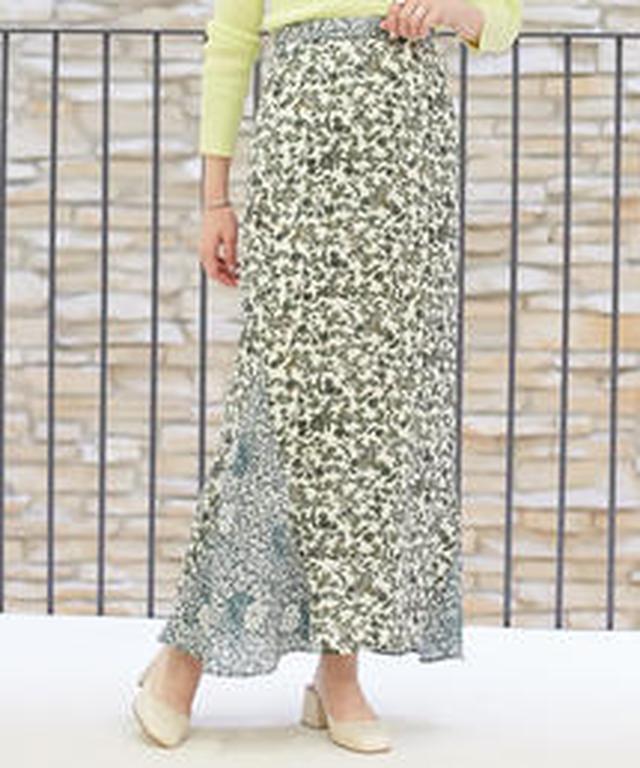 画像2: TOMORROWLANDのネオプリスカートは、ロングスカートの裾のラインだけ別の柄になってたり、マーメイドスカートの裾のフレア部分だけがマルチプリントだったり、さり気ないネオプリ感が、おしゃれ。