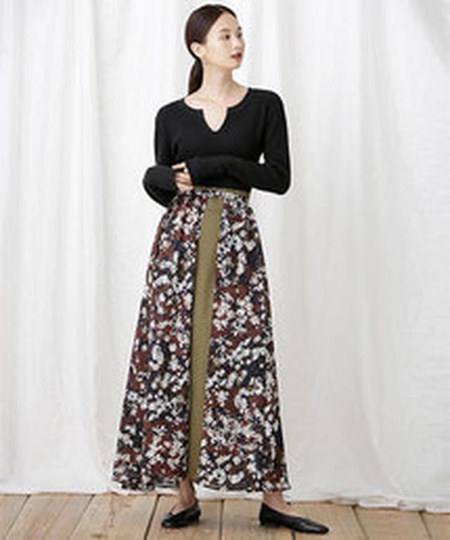 画像4: リゾートプリント&ちょいデザインスカート