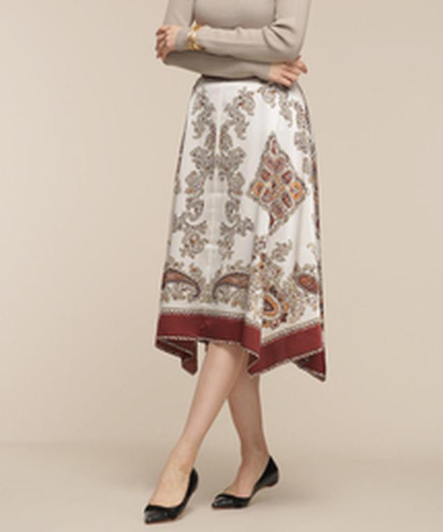 画像3: リゾートプリント&ちょいデザインスカート