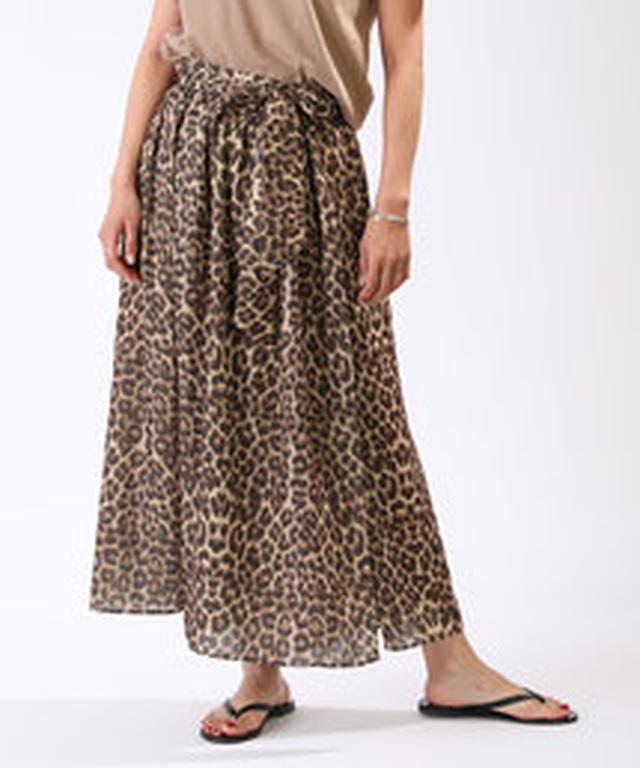 画像4: アニマル柄をあえて、マキシ目のスカートで履きこなすのが今年らしさ。きれいなフォルムや上品な素材なら、アニマル柄のロングでも、すごーくリアルなおしゃれになるから試してみて。