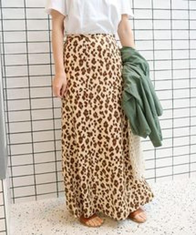 画像2: アニマル柄をあえて、マキシ目のスカートで履きこなすのが今年らしさ。きれいなフォルムや上品な素材なら、アニマル柄のロングでも、すごーくリアルなおしゃれになるから試してみて。