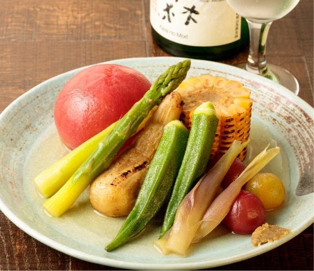 画像: 夏野菜おでん- 冷製仕立て- 1,200yen
