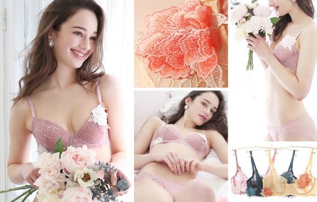 """画像6: パッドレスで盛らずに美胸。バスト本来の美しいシルエットを表現する """"ノンパテッドブラジャー""""『Bella Notte シアーモチーフ ブラセット』発売"""