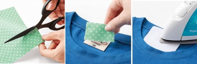 画像3: ちくちくが気になるタグをアイロンで簡単接着「ソフトな布カバーシール」