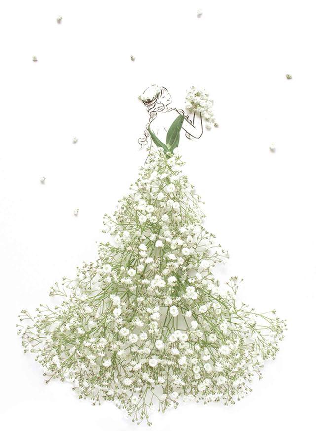 画像4: あなたを「美」しく「咲」かせる祝福の1着 19万人が待っていた、花とウェディング のコラボが実現