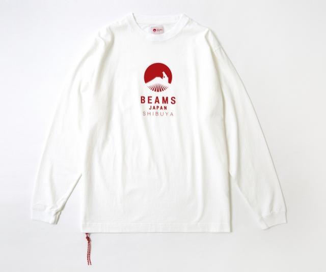 画像: BEAMS JAPAN ハチ公ロゴ ロングTシャツ ¥7,800(税抜)