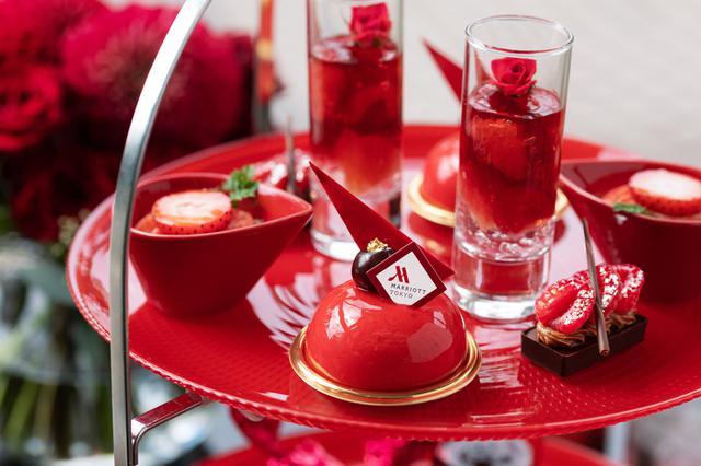 画像3: 【東京マリオットホテル】「TOKYO RED Afternoon Tea(トウキョウ レッド アフタヌーンティー)」レッドカラーに染まる華やかなスイーツ&セイボリー
