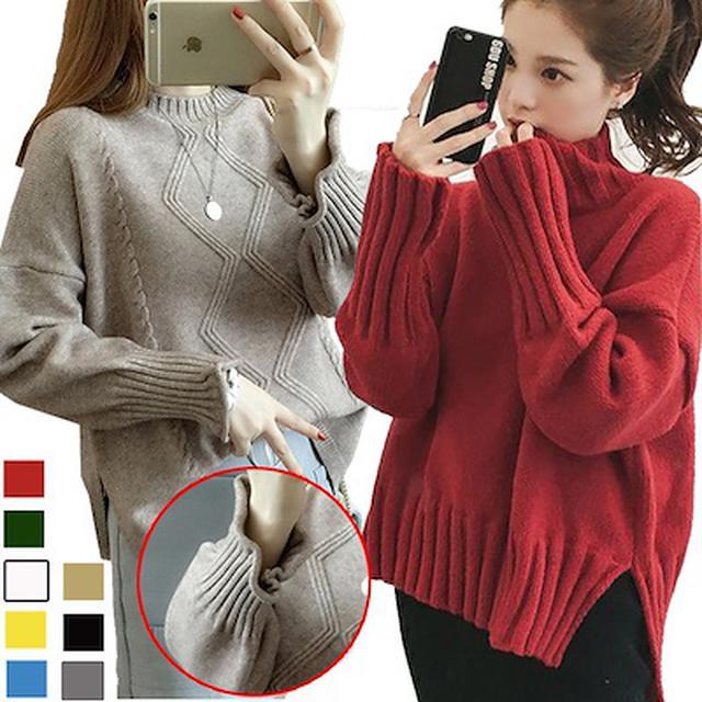 画像: [Qoo10] 長袖セーター : レディース服