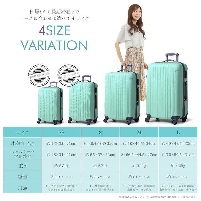 画像2: プチプラなのに1年保証付き!満足度No.1スーツケース