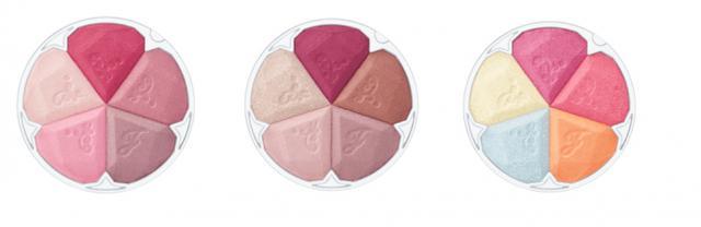 画像: <カラーバリエーション> 上段左から)01 blooming tulip, 02 baby lilac, o3 mellow daisy 下段左から)04 lacy rose, 05 spicy dahlia, 06 brilliant bloom(限定)