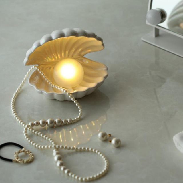 画像: 4位「真珠が光るシェルモチーフのテーブルランプ」