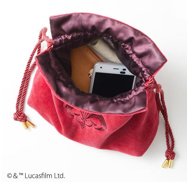 画像2: アミダラ女王へ忠誠の証!紋章刺繍の巾着バッグ