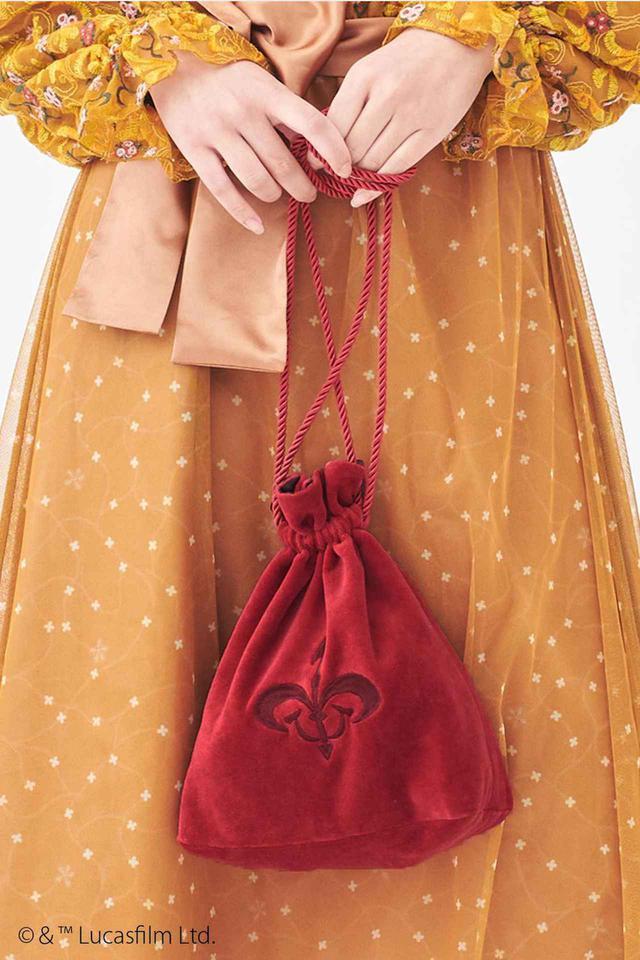 画像1: アミダラ女王へ忠誠の証!紋章刺繍の巾着バッグ
