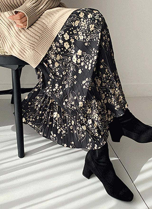 画像: [DHOLIC] プリーツフローラルスカート・全2色|レディースファッション通販 DHOLICディーホリック [ファストファッション 水着 ワンピース]