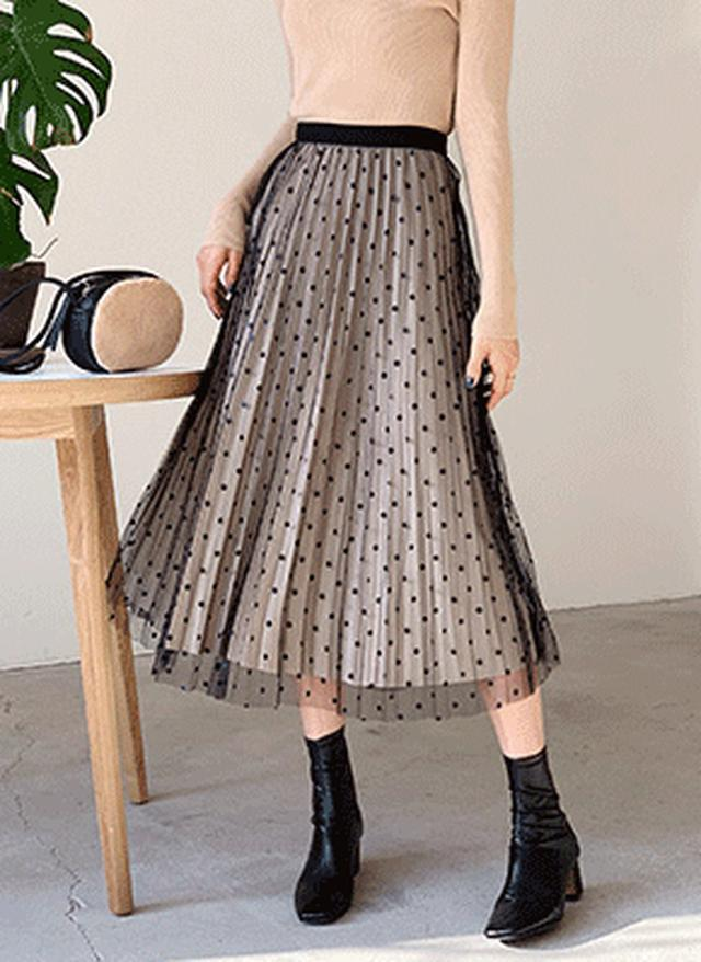 画像: [DHOLIC] ドットベロアリバーシブルスカート・全3色スカートスカート|レディースファッション通販 DHOLICディーホリック [ファストファッション 水着 ワンピース]