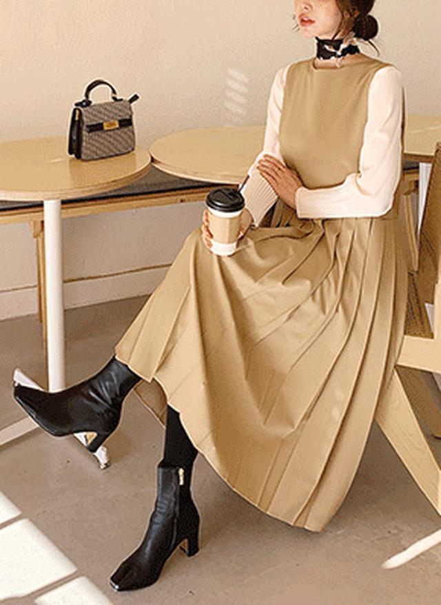 画像: [DHOLIC] スリーブレスプリーツワンピース・全2色ワンピース・スカート|レディースファッション通販 DHOLICディーホリック [ファストファッション 水着 ワンピース]