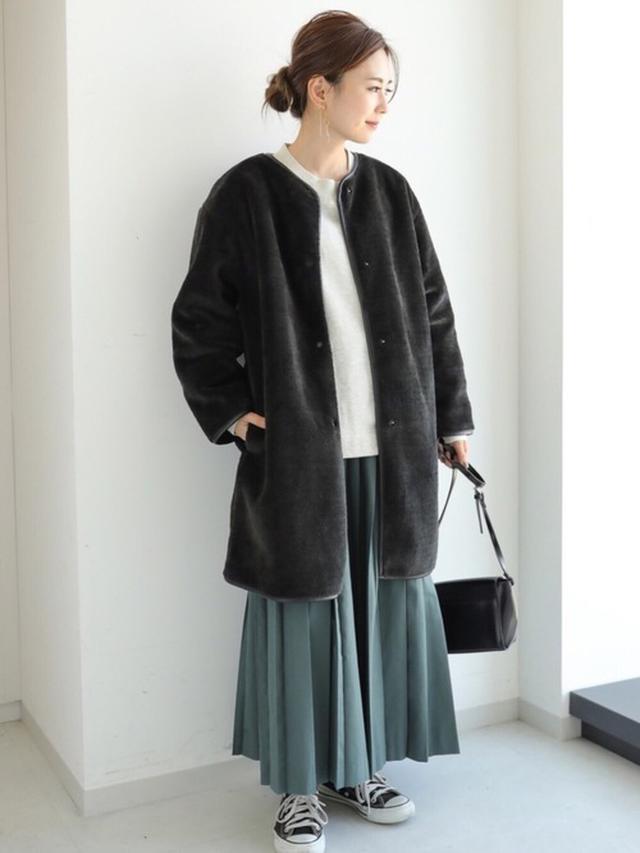 画像: セミロング丈×ロングスカート