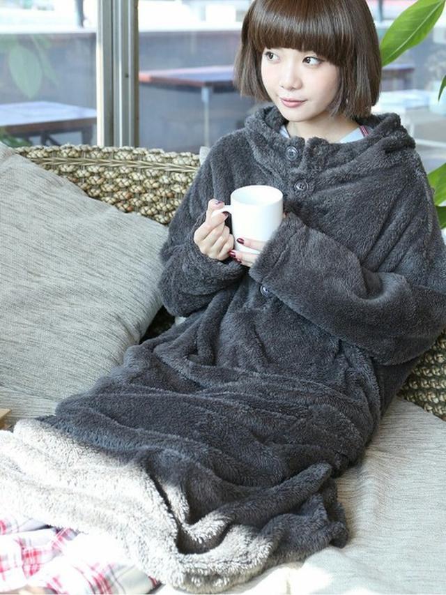 画像: とろりとした肌触りが最高!「着る毛布」のガウン