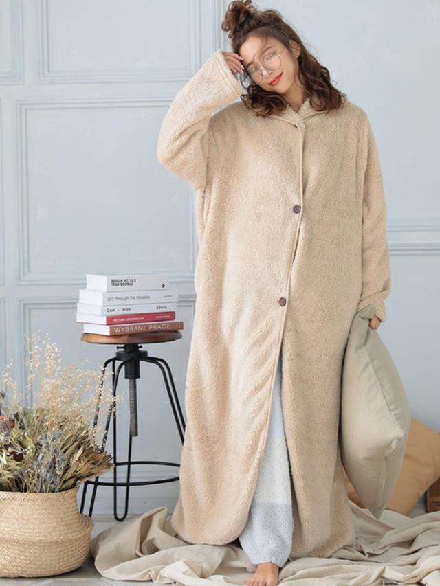 画像: ふわふわパジャマで冷え対策