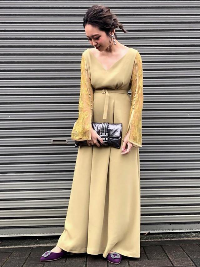 画像: お呼ばれカラードレス
