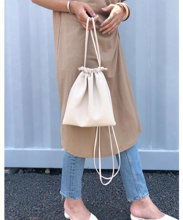 画像: 使い勝手がいい2WAY巾着バッグ