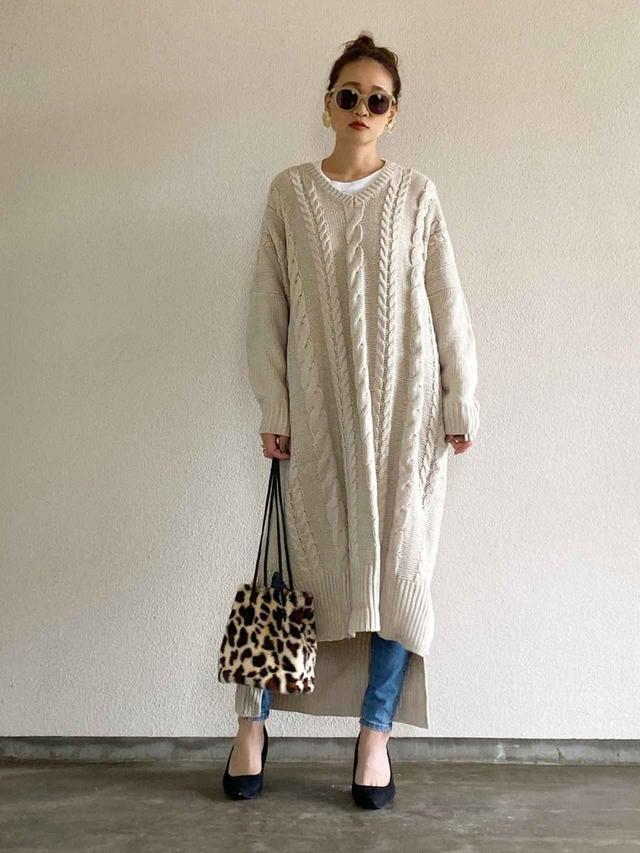 画像: ワイド感たっぷりなざっくり編み
