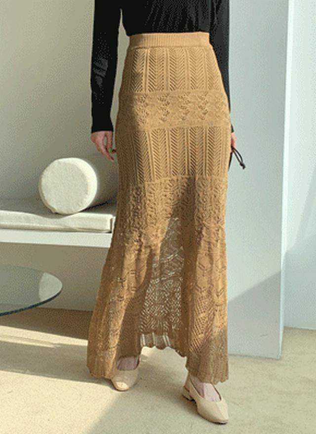画像: [DHOLIC] パンチングニットスカート・全4色スカートスカート|レディースファッション通販 DHOLICディーホリック [ファストファッション 水着 ワンピース]