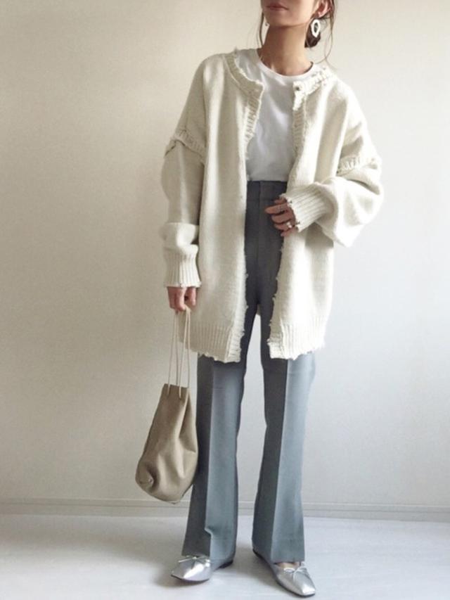 画像4: ペタンコ靴で上品スタイル