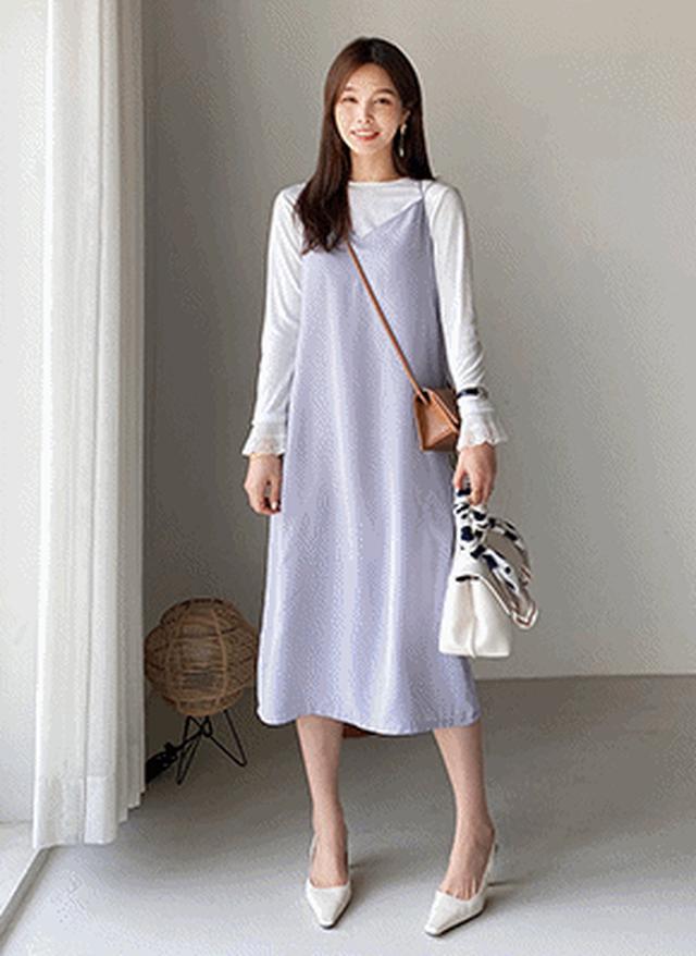 画像: [DHOLIC] バッククロスキャミワンピース・全5色ワンピース・スカート|レディースファッション通販 DHOLICディーホリック [ファストファッション 水着 ワンピース]