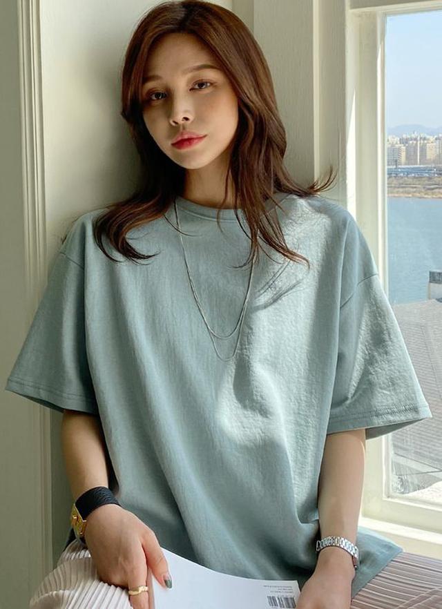 画像: バックスリットTシャツ・全5色・b61536 ¥2,827 (税込)