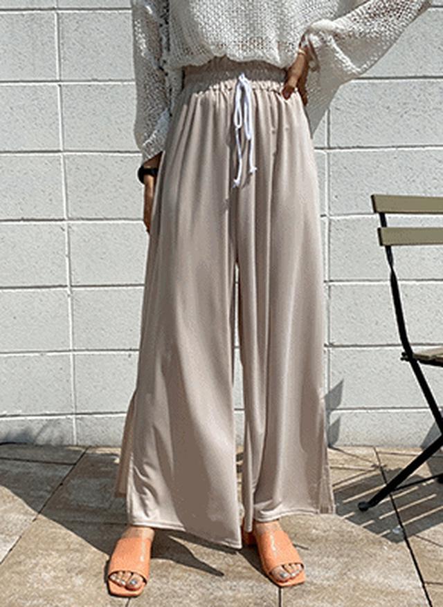 画像: [DHOLIC] サイドスリットイージーパンツ・全3色パンツ・ズボンパンツ・ズボン|レディースファッション通販 DHOLICディーホリック [ファストファッション 水着 ワンピース]