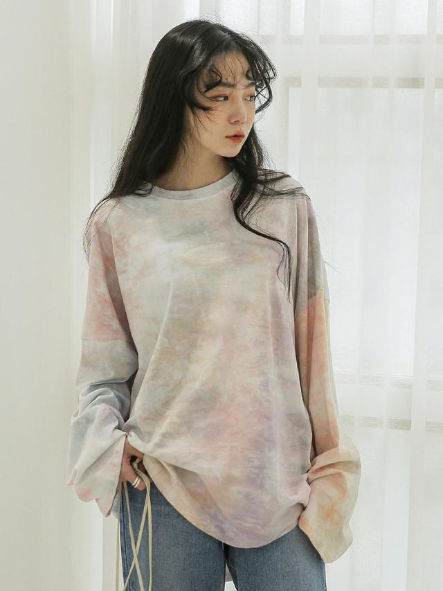 画像: 【UNE MANSION】ユニセックスタイダイクルーネックTシャツ 5,742円(税込)