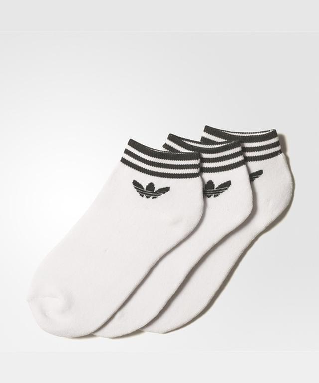 画像: 【adidas】オリジナルス トレフォイル アンクル ストライプ ソックス 3足組 靴 1,650円(税込)