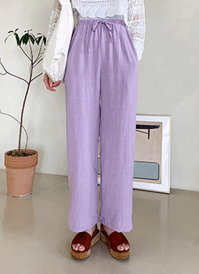 画像: [DHOLIC] ドロストリネン混パンツ・全5色パンツ・ズボンパンツ・ズボン|レディースファッション通販 DHOLICディーホリック [ファストファッション 水着 ワンピース]