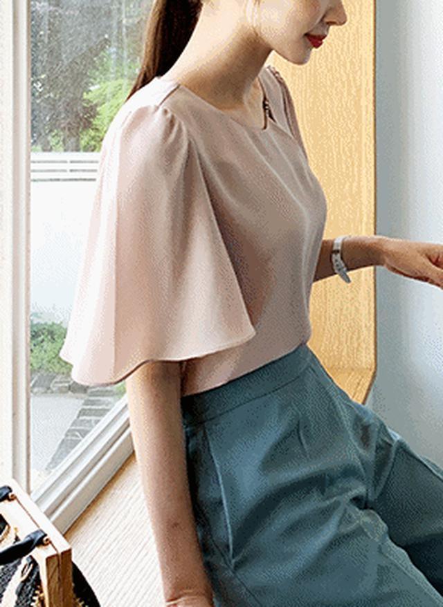 画像: [DHOLIC] ネックキュービックブラウス・全3色シャツ・ブラウスシャツ・ブラウス|レディースファッション通販 DHOLICディーホリック [ファストファッション 水着 ワンピース]
