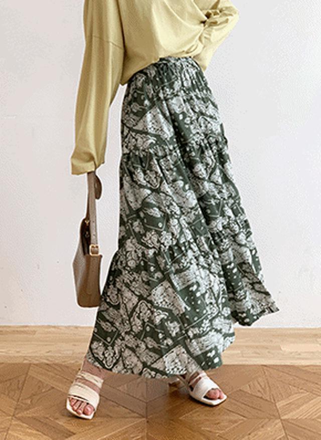 画像: [DHOLIC] イージーペイズリースカート・全3色スカートスカート|レディースファッション通販 DHOLICディーホリック [ファストファッション 水着 ワンピース]