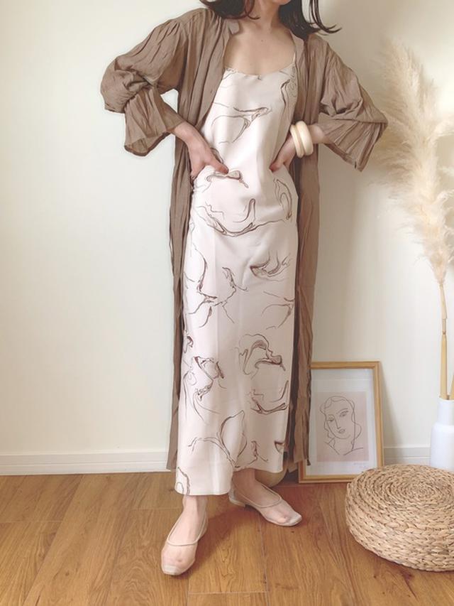画像: 楊柳シフォンガウンシャツワンピース/¥5,379(税込み) wear.jp