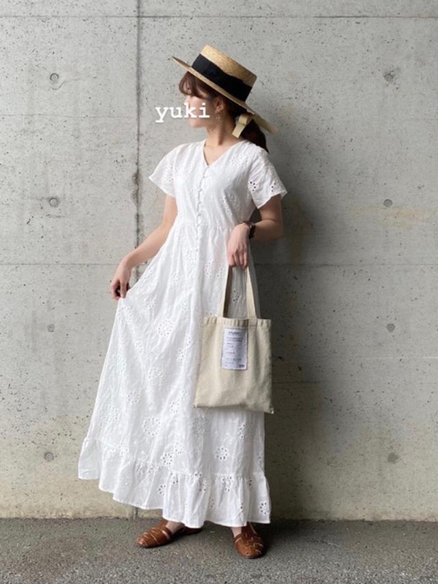 画像: コットンレースマキシワンピース/¥8,019(税込み) wear.jp