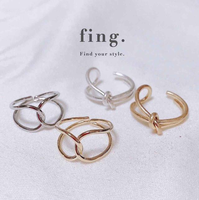 画像: 左:ring gold/28R095 ring silver/28R096 ¥1,210(税込み)、右:ring gold/28R155 ring silver/28R156 ¥1,210(税込み)