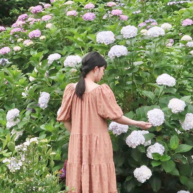 画像1: 紫陽花に似合う雨の日ワンピース♪