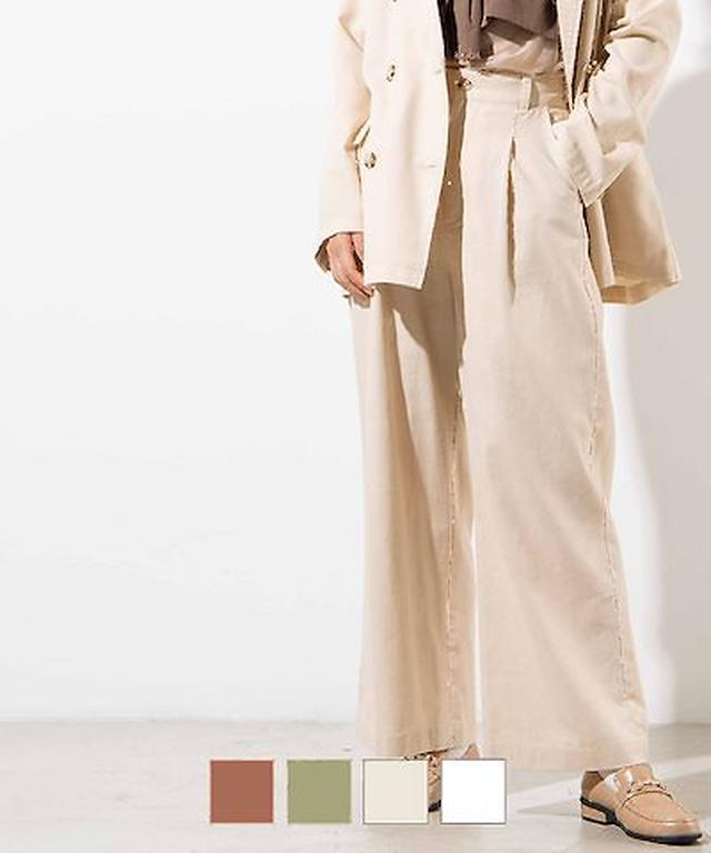 画像: [Qoo10] ウィゴー : 【WEGO公式】リネンブレンドタックスト... : レディース服